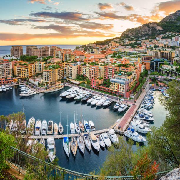 Monaco Panorama stock photo