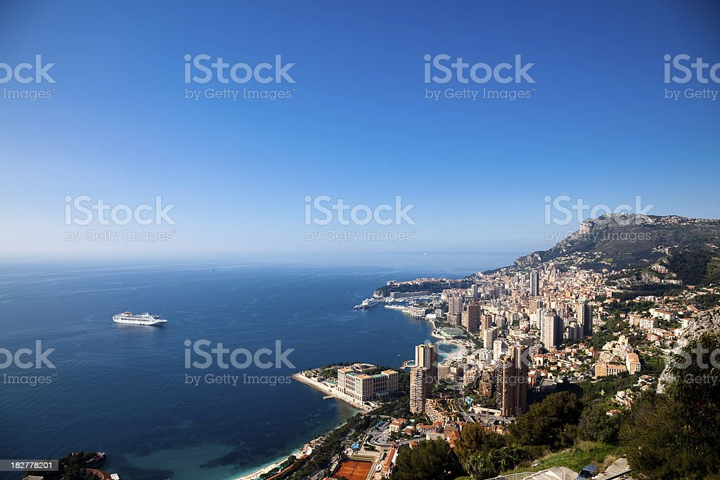 Monte Carlo, Mónaco () VISTA PANORÁMICA - foto de stock