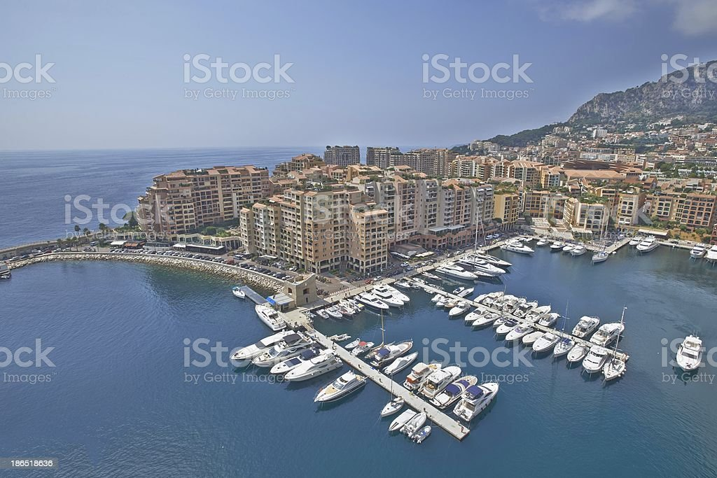Monaco port royalty-free stock photo