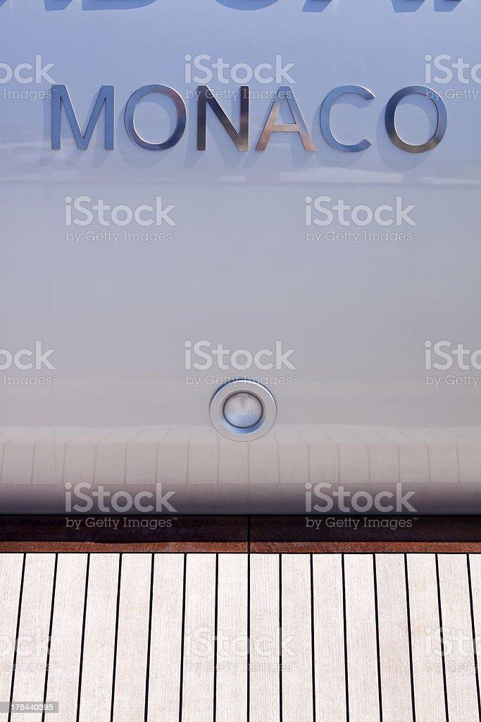 Monaco Power Boat stock photo