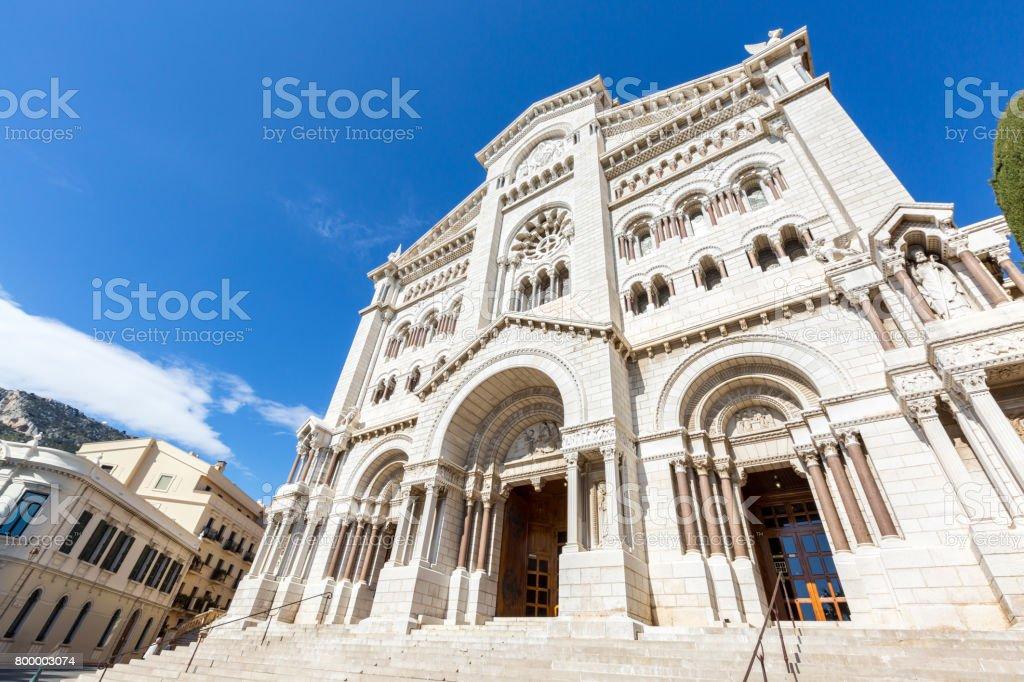 Monaco Saint Nicholas Cathedral stock photo