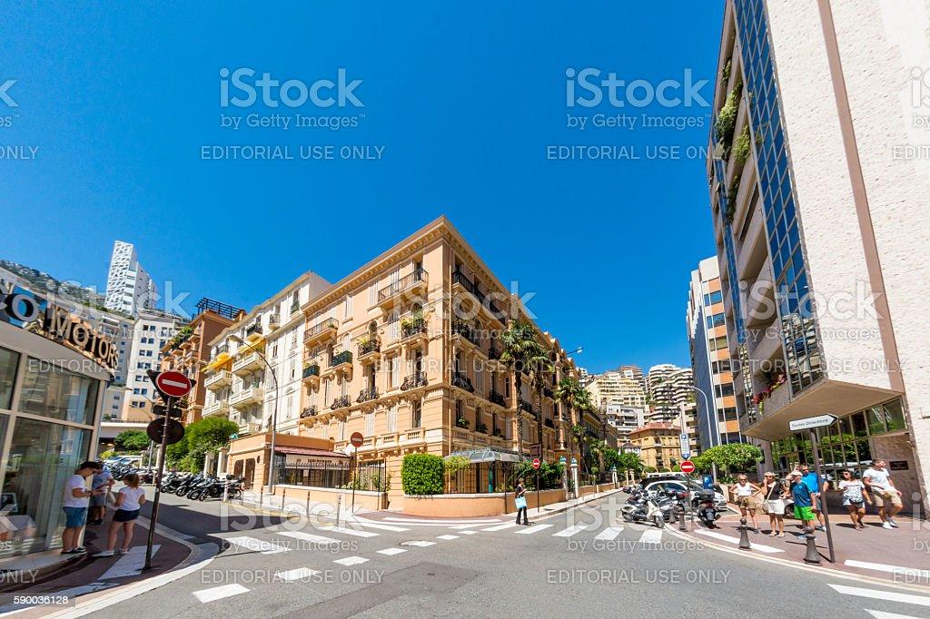 Monaco Street Town Centre stock photo