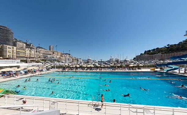 Monaco Swimming Pool stock photo