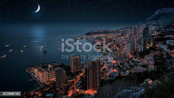 istock Monaco under the moonllght 522868182