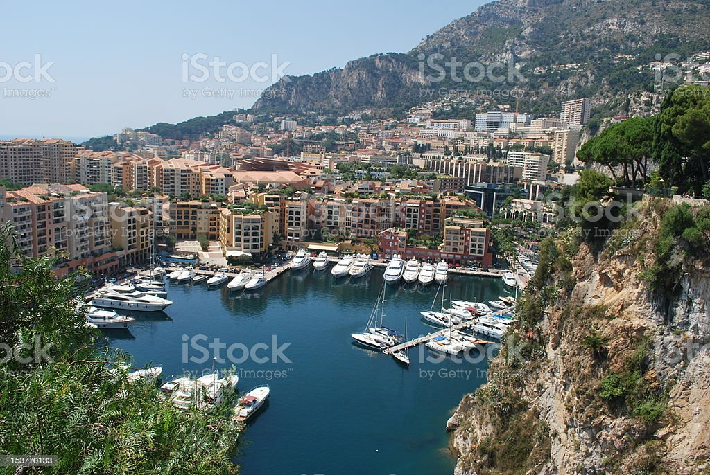 Monaco's Harbor royalty-free stock photo