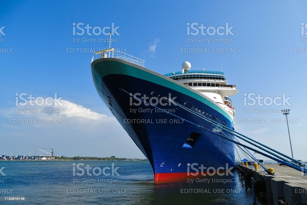 May 2018, MS Monarch cruise ship belonging to the Pullamantur Cruise...