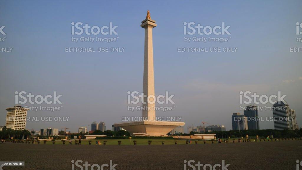 Monas or National Monument stock photo