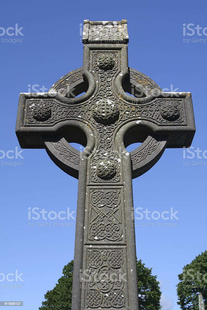 Monasterboice High Cross royalty-free stock photo