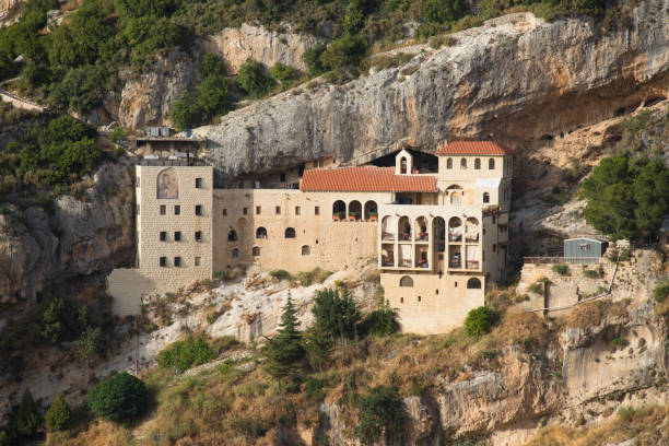 Klöster entlang des Tals von Qadisha. Tal von Qadisha, Libanon – Foto