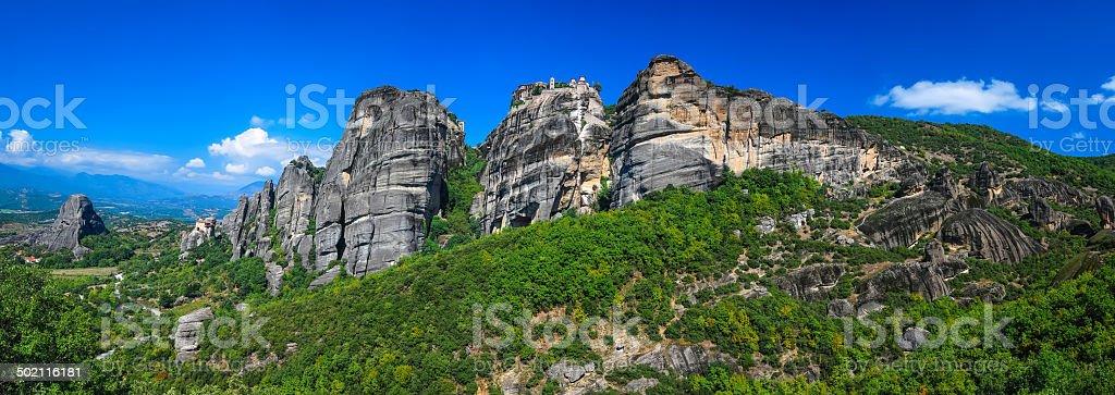 Monasteries of Meteora, Greece landmark stock photo