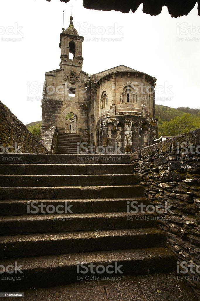Monasterio de Caaveiro stock photo