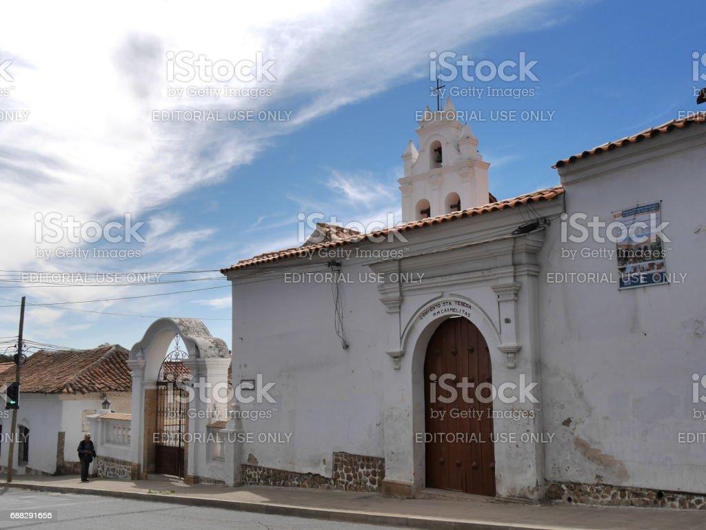 Monastery and santa teresa temple stock photo