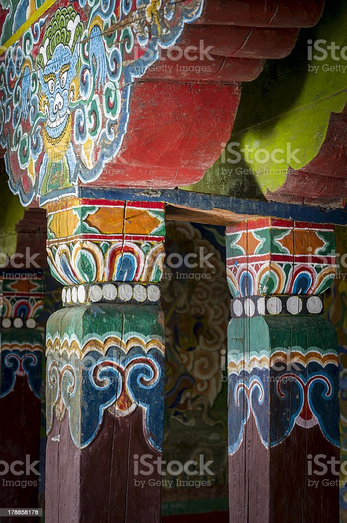 Monastery architecture detail royalty-free stock photo