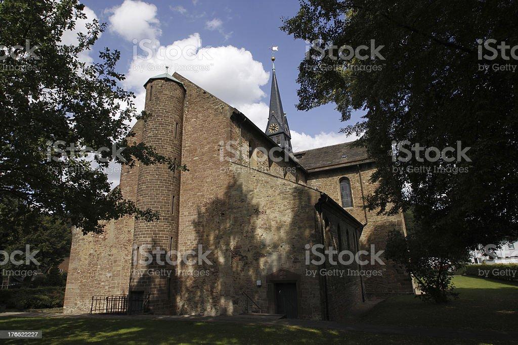 Monastery church St. Marien in Bodenwerder-Kemnade stock photo