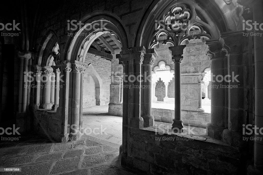 Monastery cloisters, Barcelona stock photo
