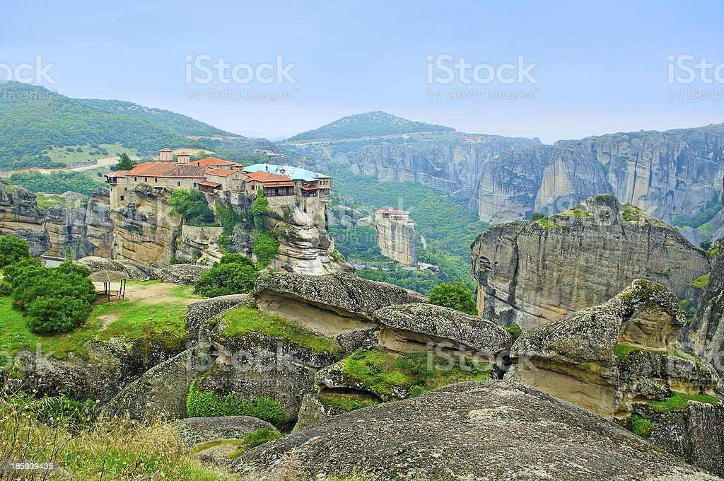 Monastery from Meteora-Greece. royalty-free stock photo