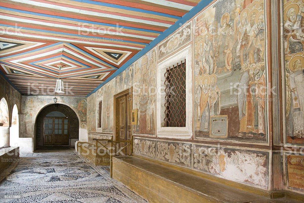 Monastery  Hilandar royalty-free stock photo