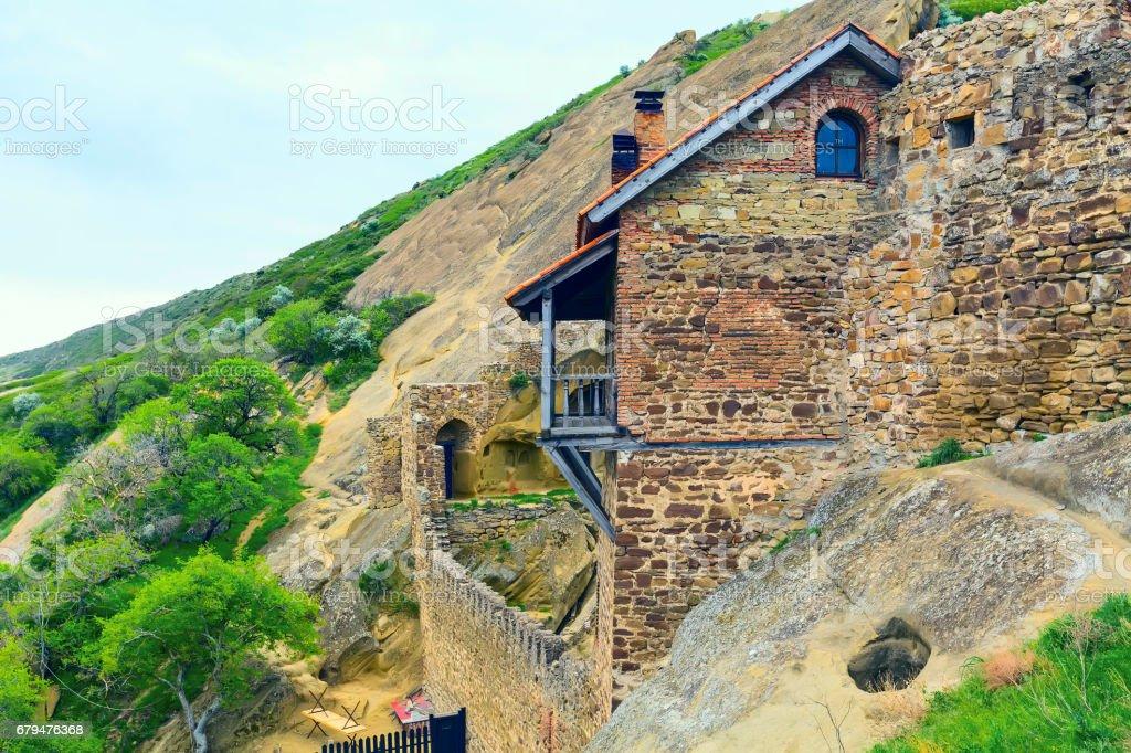 Monastery in Georgia David Gareji 免版稅 stock photo