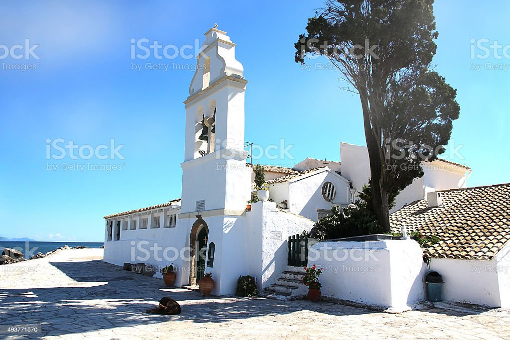 Monastery in Greece. stock photo
