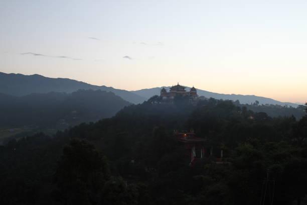 Monastery in Nepal stock photo