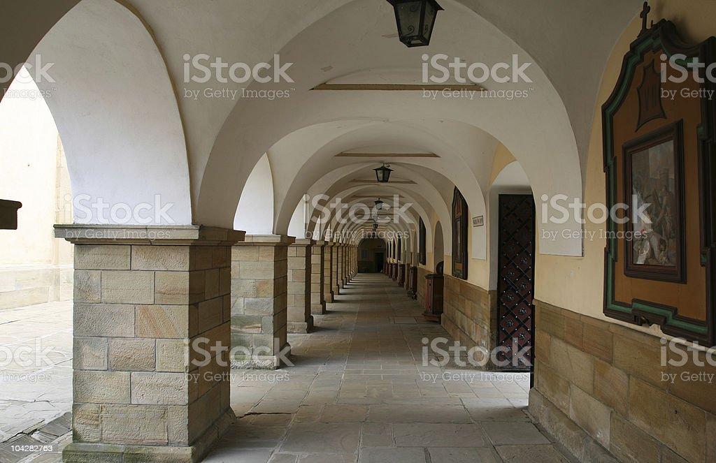 Monastery in Poland stock photo