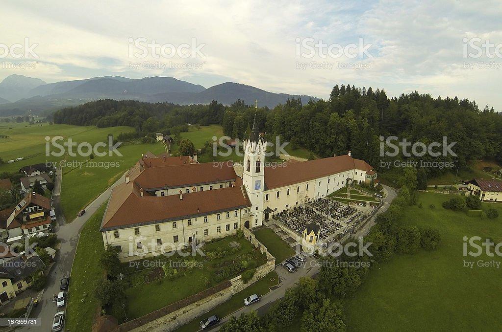 Monastery in Slovenia royalty-free stock photo