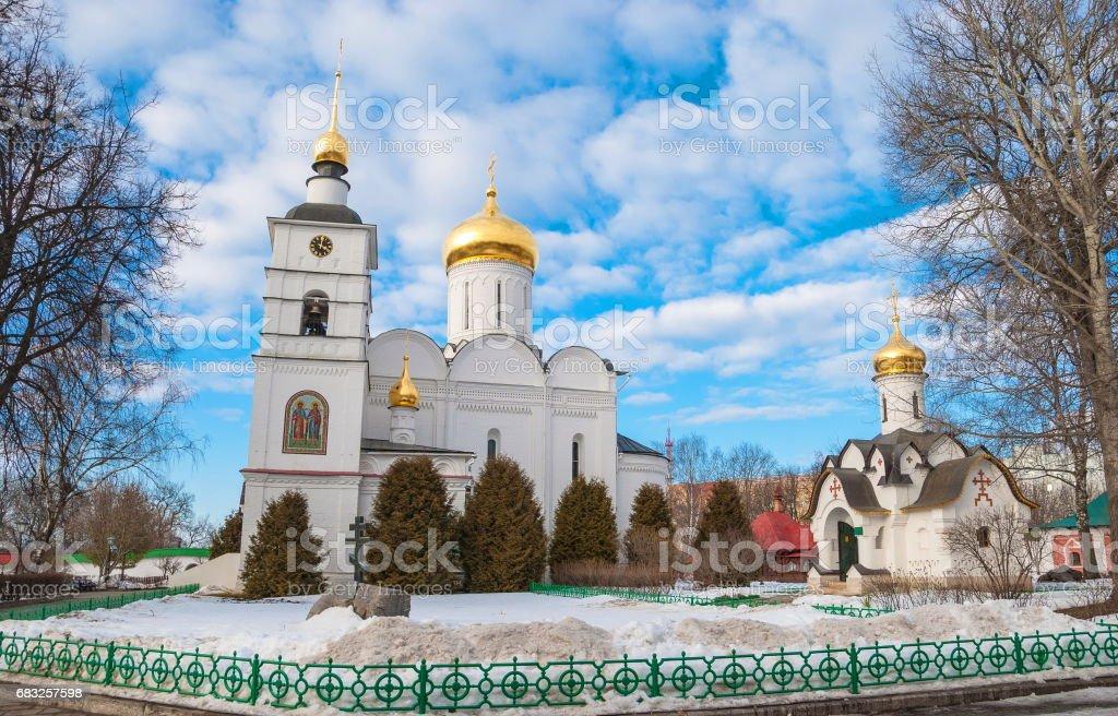 Monastery in the city of Dmitrov royalty-free stock photo