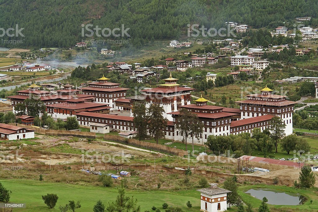 Monastery in Thimphu, Bhutan stock photo