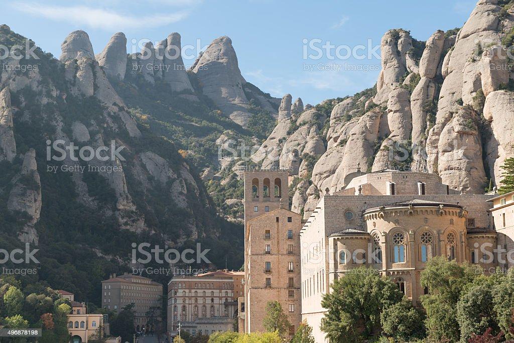 Monastery Montserrat stock photo