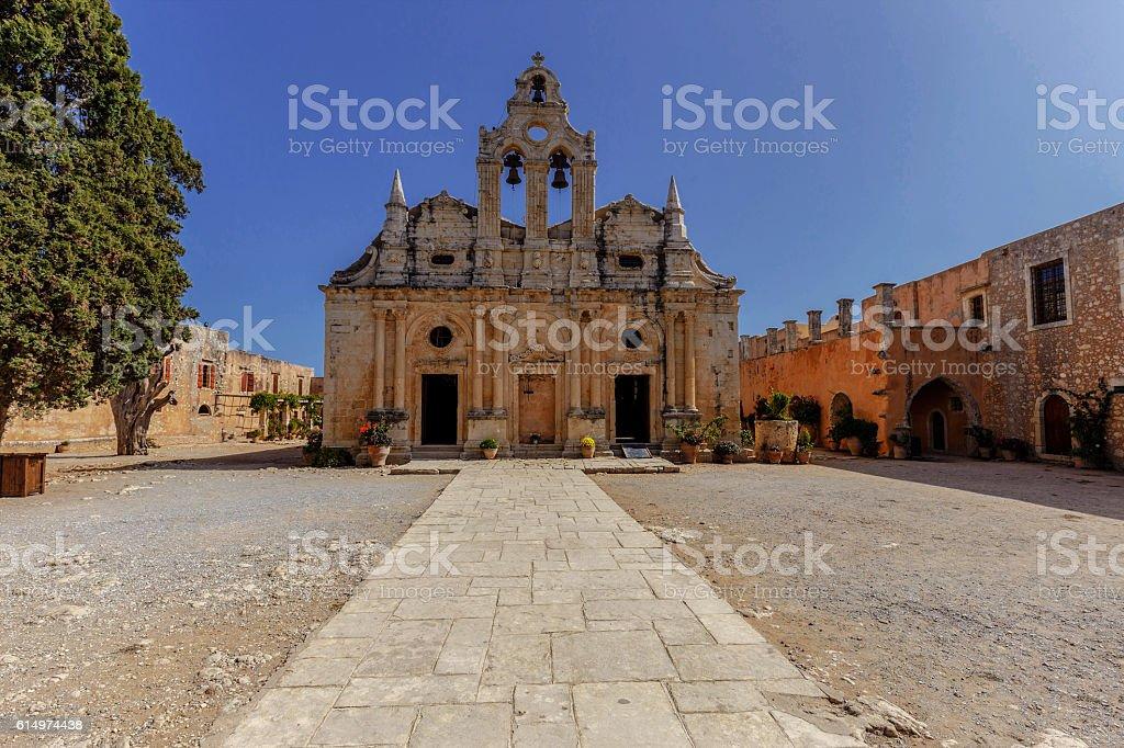 Monastery of Arkadi stock photo