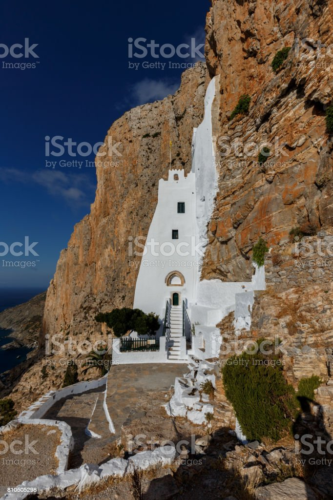 Monastery of Hozoviotissa stock photo
