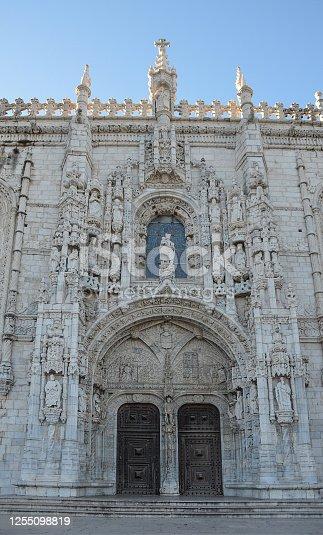 Monastery of Jeronimos (Mosteiro dos Jeronimos), manueline style, in Lisbon, Portugal.