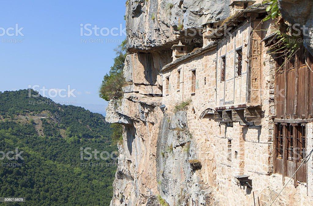 Monastery of Kipina in Greece stock photo
