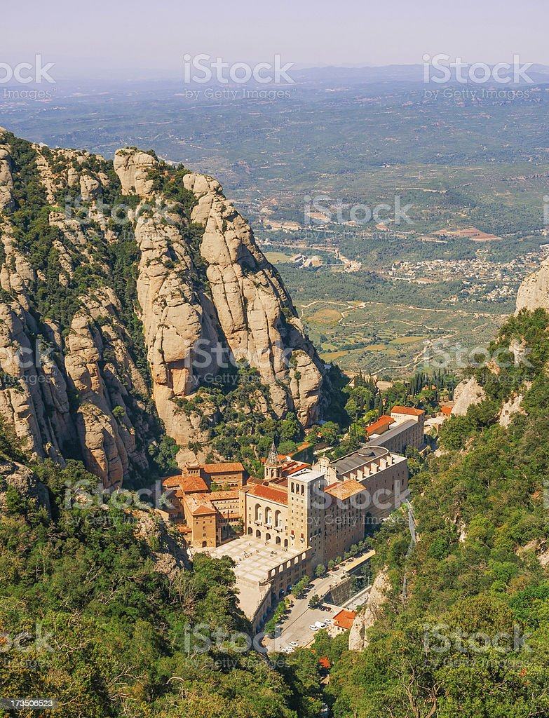 Monastery of Montserrat stock photo