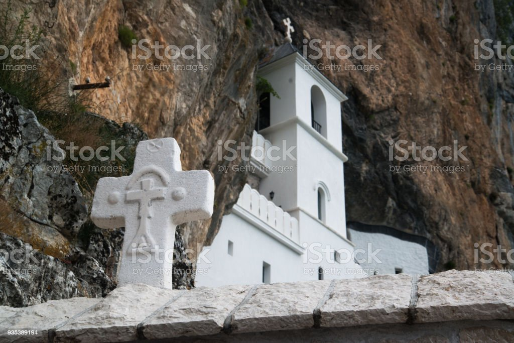 Monastery of Ostrog, Montenegro stock photo