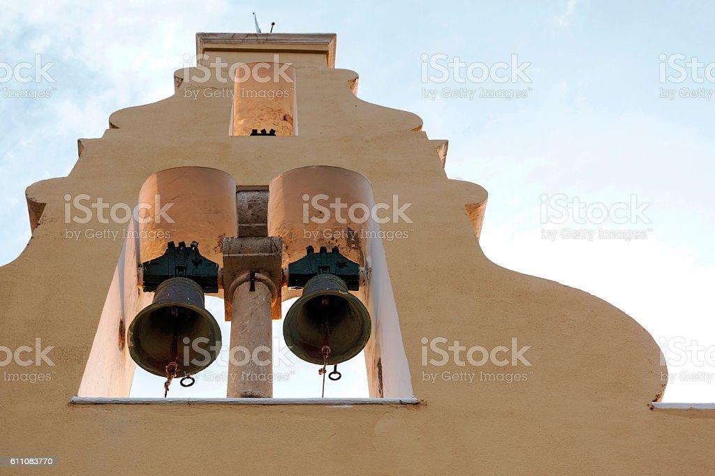 Monastery of Paleokastritsa in Corfu, Greece stock photo