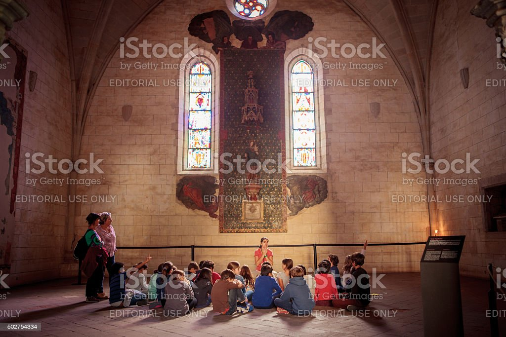 Monastery of Pedralbes in Barcelona, Spain stock photo