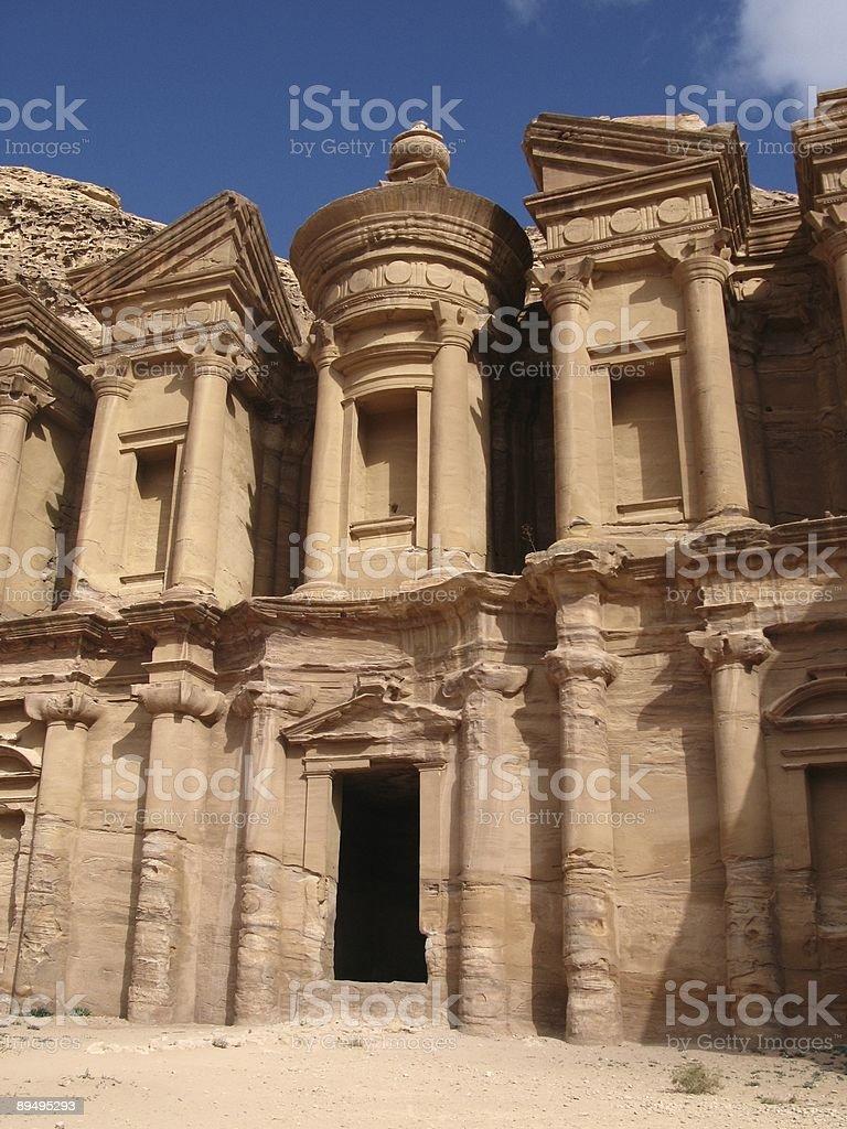 Monastery of Petra royalty free stockfoto
