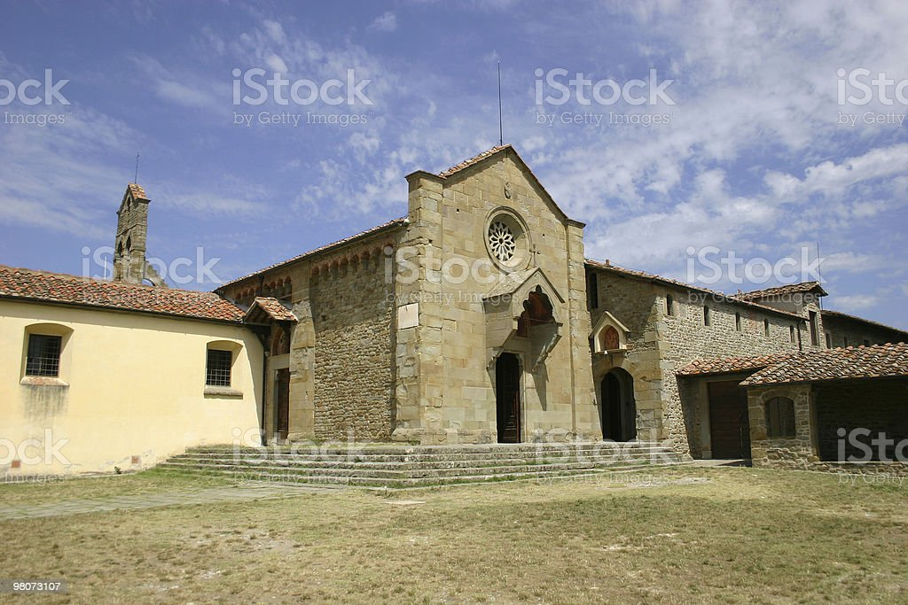 Monastery of San Francesco in Fiesole royalty-free stock photo