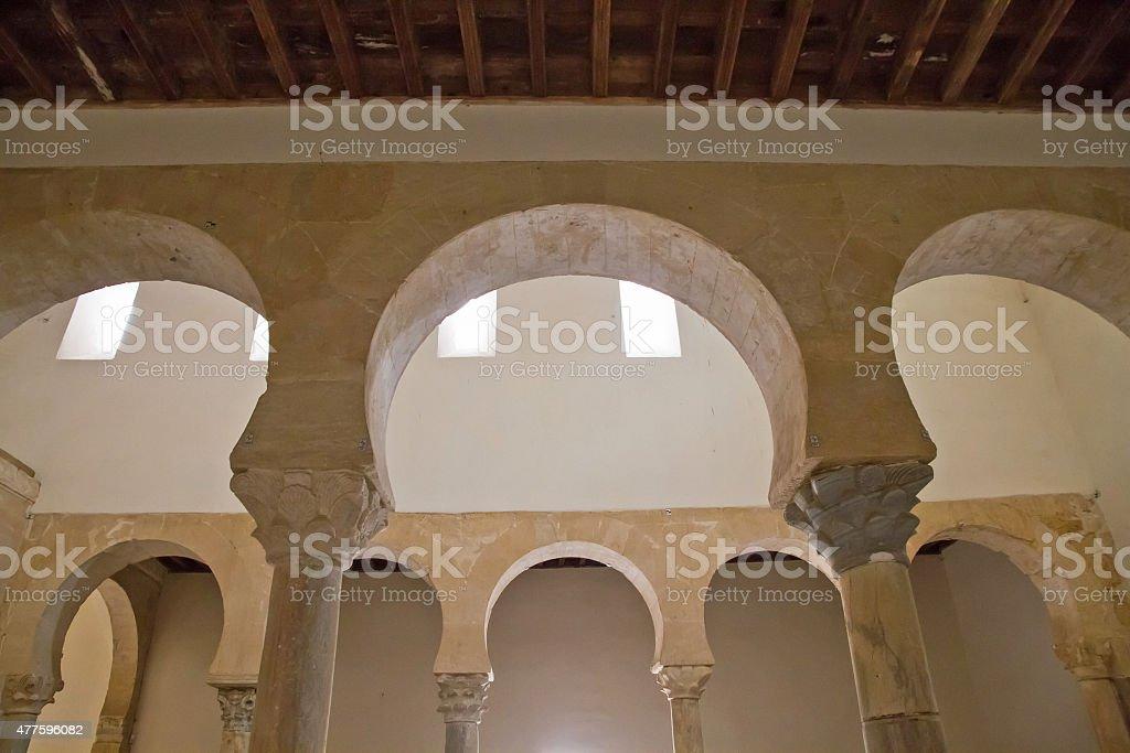 Monastery of San Miguel de Escalada - Interior de Monasterio stock photo