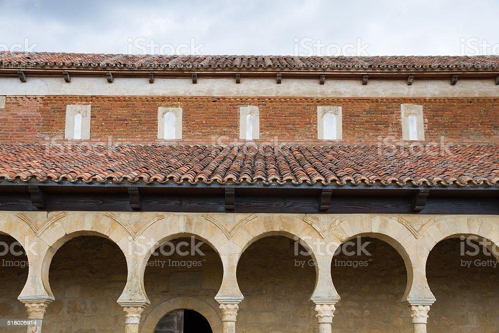 Monastery of San Miguel de Escalada - Monasterio stock photo