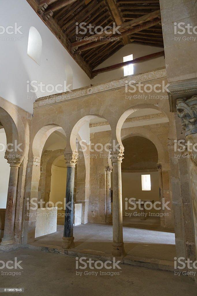 Monastery of San Miguel de Escalada stock photo