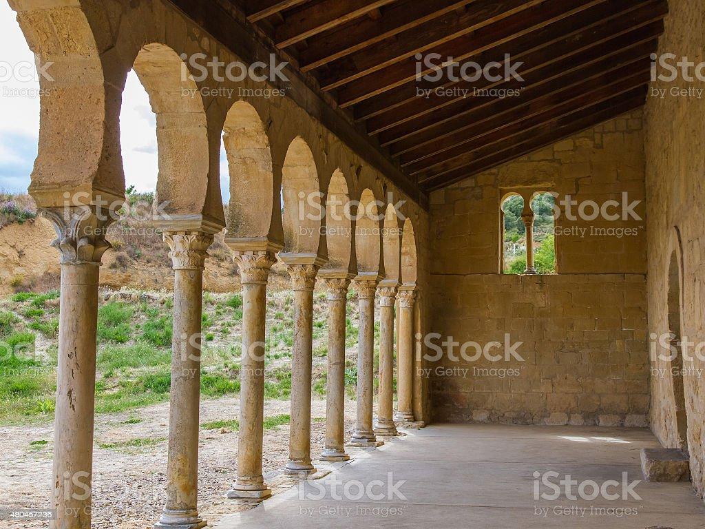 Monastery of San Miguel de Escalada - San Miguel  Escalada stock photo