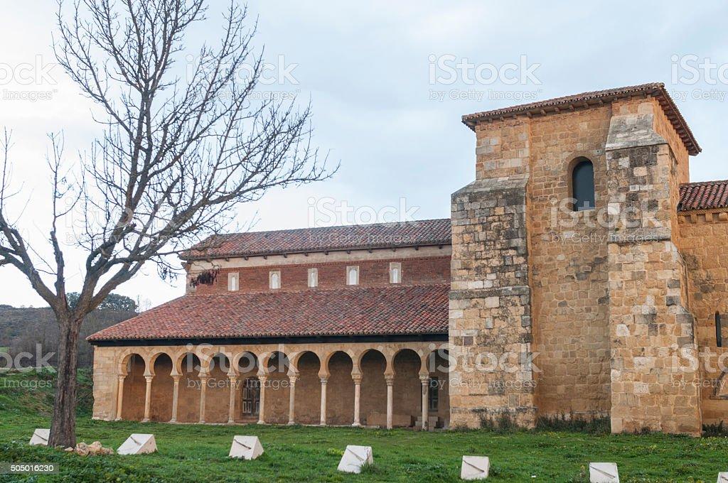Monastery of San Miguel de la Escalada stock photo
