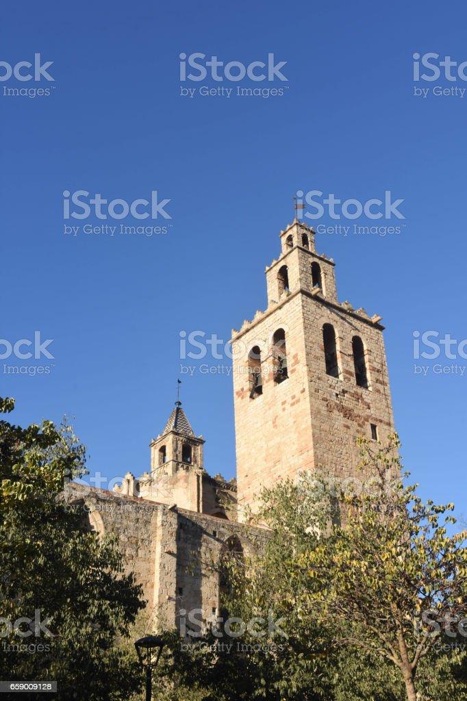 Monastery of Sant Cugat, Barcelona province,Catalonia,Spain royalty-free stock photo