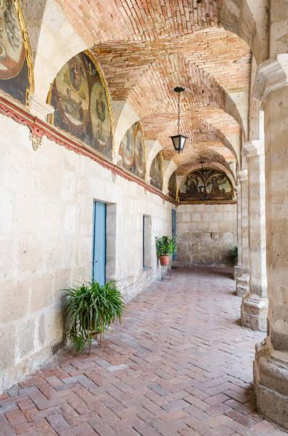 Monastery of Santa Catalina de Siena, Arequipa stock photo