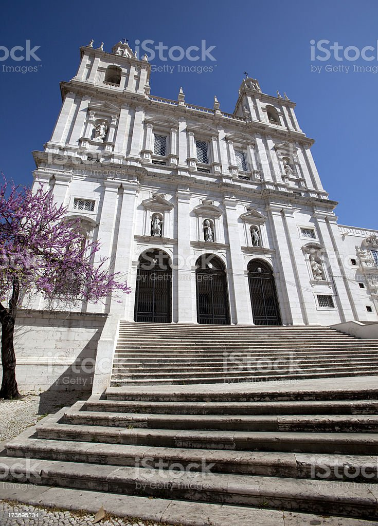 Monastery of São Vicente de Fora in Lisbon stock photo