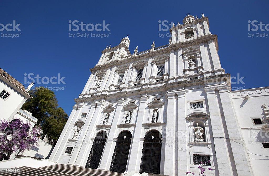 Monastery of São Vicente de Fora Lisbon stock photo