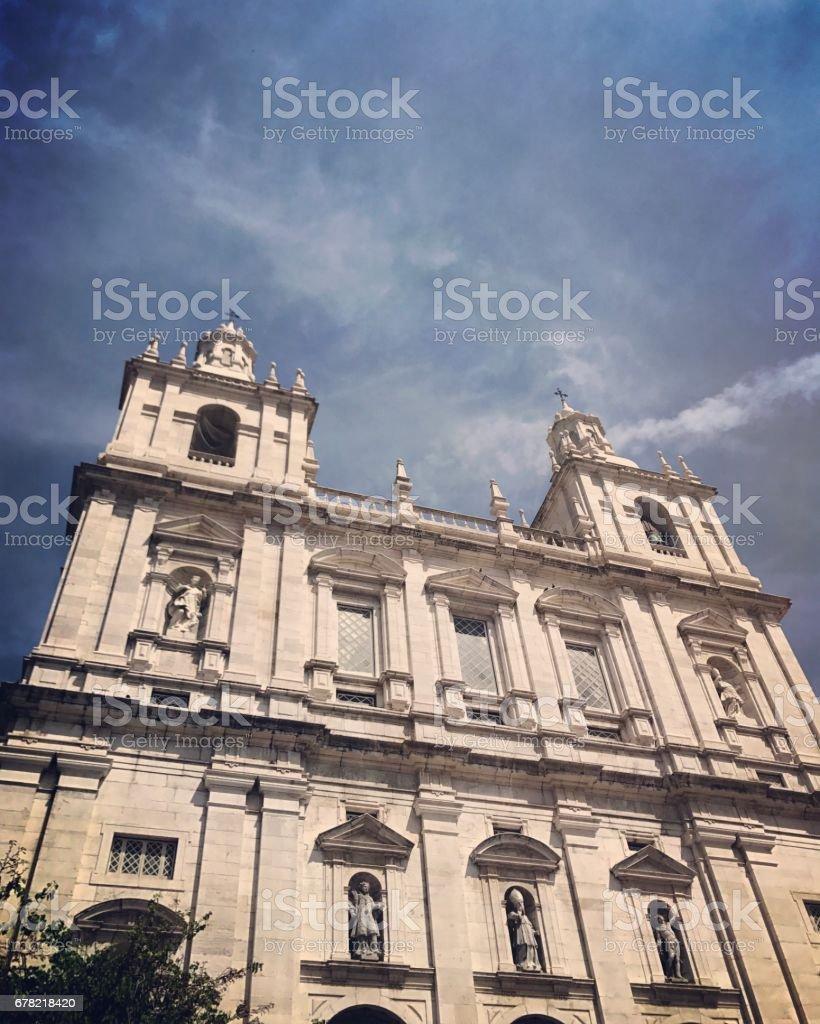 Monastery of São Vicente de Fora, Lisbon, Portugal stock photo