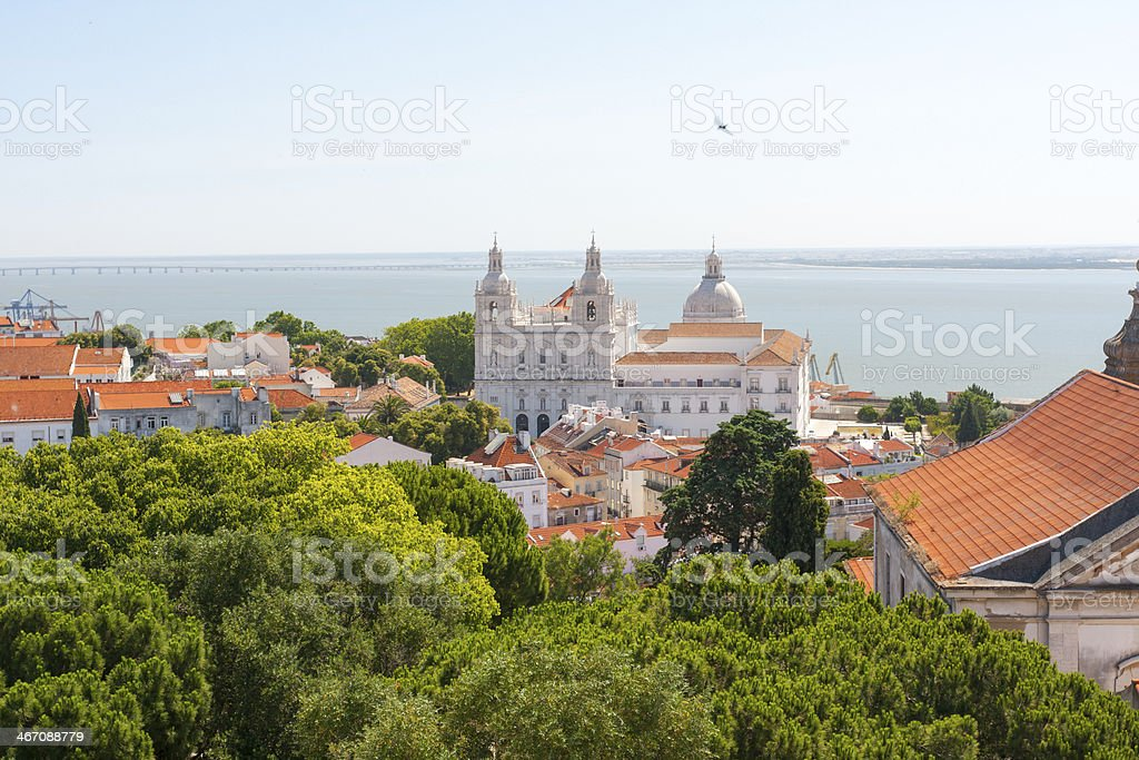 Monastery of São Vicente de Fora stock photo